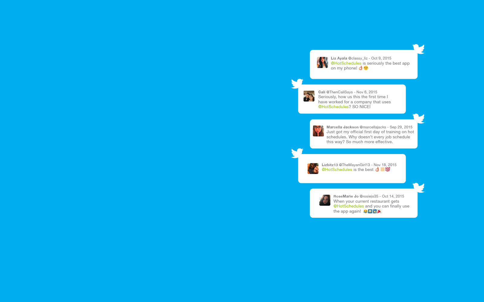 Twitter Homepage Slider