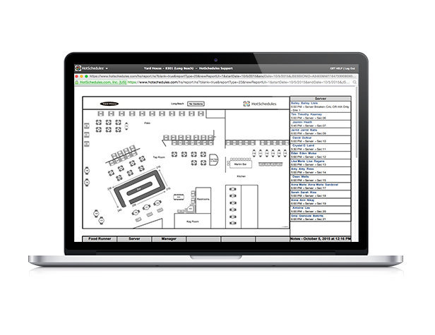 HotSchedules Module Floor Maps macbook