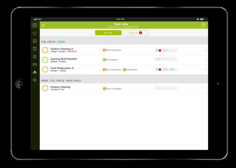 Logbook Task List iPad