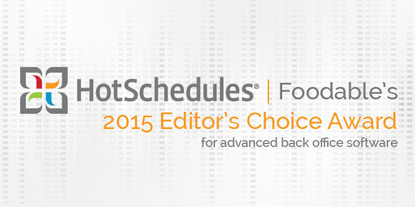 news hotschedules editors choice for advanced back office software 2015