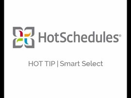 Hot Tip! Smart Select in the Scheduler